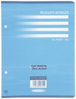 Feuille simple blanche Clairefontaine 17x22 grand carreaux 90g - sachet de 50