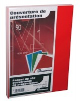 Couverture glace 21x29,7 rouge - Paquet de 100