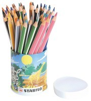 Crayon de couleur triangulaire - pot de 38