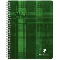 Cahier spirales Clairefontaine grand carreaux 17x22 100p 90g