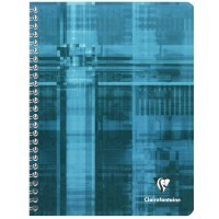 Cahier spirales Clairefontaine grand carreaux 17x22 180p 90g