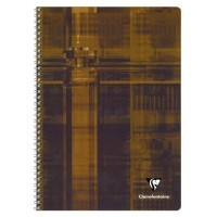 Cahier spirales Clairefontaine grand carreaux A4 100p 90g