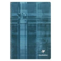 Cahier spirales Clairefontaine grand carreaux A4 180p 90g