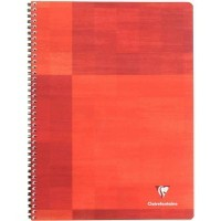 Cahier spirales Clairefontaine grand carreaux 100p 24x32 grand carreaux 90g