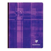Cahier brochures Clairefontaine grand carreaux 17x22 192p 90g
