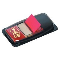 Index Post-it repositionnable rouge 25mm- carte de 50