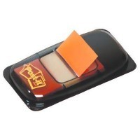 Index Post-it repositionnable orange 25mm - carte de 50