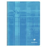 Cahier spirales Clairefontaine grand carreaux 24x32 180p 90g