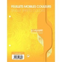 Feuille simple jaune Clairefontaine 17x22 grand carreaux 80g - sachet de 50
