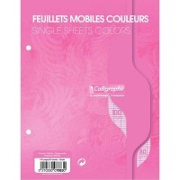 Feuille simple rose Clairefontaine 17x22 grand carreaux 80g - sachet de 50