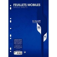 Feuille simple blanche Clairefontaine A4 grand carreaux 90g - sachet de 50