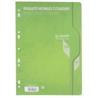 Feuille simple vert Clairefontaine A4 grand carreaux 80g - sachet de 50