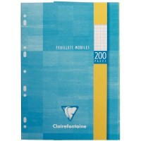 Feuille simple blanche Clairefontaine A4 grand carreaux 90g - etui de 100