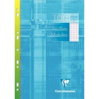 Feuille simple blanche Clairefontaine A4 grand carreaux 90g - etui de 50