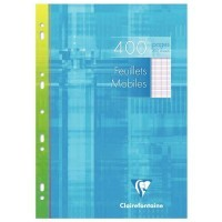 Feuille simple blanche Clairefontaine A4 grand carreaux 90g - etui de 200