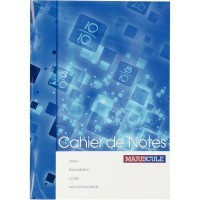 Cahier de notes 44 pages format A4 (21 x 29,7 cm)