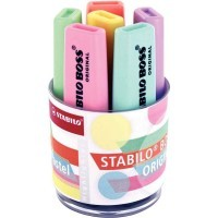Surligneur Boss pastel assortis - Pot de 6