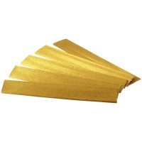 Papier metal crepe 250x50 or - Paquet de 5