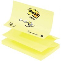 Recharge post it z-note 76x127mm jaune - bloc de 100 feuilles