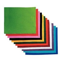 Coupon feutrine 25x30 assorti - Paquet de 12