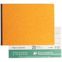 Registre piqure Exacompta 80 pages 20 colonnes/2 pages 25x32 italienne 6200