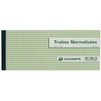 Carnet de 50 'traites' 100x210mm Exacompta