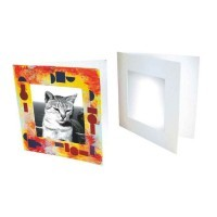 Cadres photo en carton blanc - lot de 10