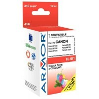 Cartouche Armor Compatibles Canon CL511 multipack cyan / magenta / jaune
