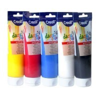 Lot de 5 tubes de 250 ml de gouache concentrée. Couleurs assorties
