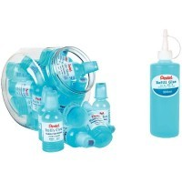 Pack de 24 flacons de colle Roll'n glue 55ml + recharge : flacon de colle 300ml.