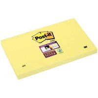 Bloc de 90 feuilles Super Sticky post-it, 76 x 127 mm, couleur : jaune