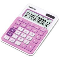 Calculatrice Casio 12 Chiffres MS-20NC Rose