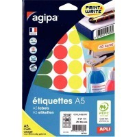 Etui de 280 pastilles 24mm multi-usage couleurs assorties