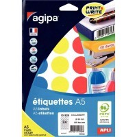 Etui de 168 pastilles 30mm multi-usage couleurs assorties