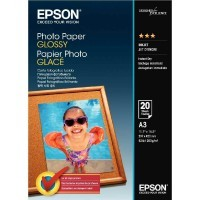 Papier photo glacé 200g A3 Epson - Paquet de 20