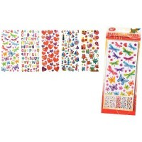 Pochette de 5 planches de stickers scintillants assortis 'Fantaisie'