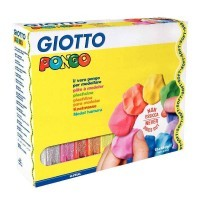 Pâte à modeler Giotto Pongo Soft - Couleurs assorties - Pack de 12 pains 450G