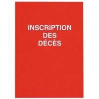 Registre 'inscription des décès', 100 pages
