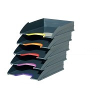 Corbeilles courrier varicolor  - Lot de 5