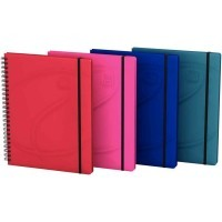Cahier spirales Oxford Beauty Organiser 160p A5+ ligné + 3 intercalaires
