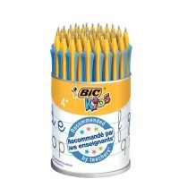 Stylo d'apprentissage clic rétractables Bic Kids bleu - Pot de 36