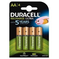Blister de 4 accu DURACELL AA2500A ULTRA POWER