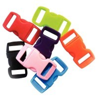 Clips en plastique, coloris assortis - Paquet de 100