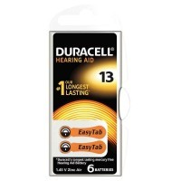 Piles auditives EASY TAB 13 DURACELL - Blister de 6