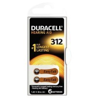 Piles auditive EASY TAB 312 DURACELL - Blister de 6
