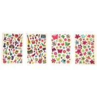 Stickers 3D assortis - Lot de 8 planches de 345