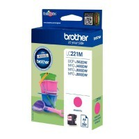 Cartouche d'encre Brother LC221M Magenta