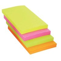 Bloc notes repositionnables 76 x 127 mm vif assortis - Lot de 12