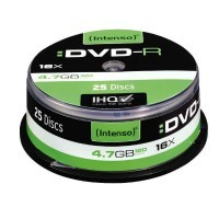 DVD-R vierge 4,7 Go, spindle 25, vitesse 16x - Lot de 25