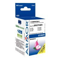 Cartouche jet d'encre compatible Brother LC1240 magenta compatible